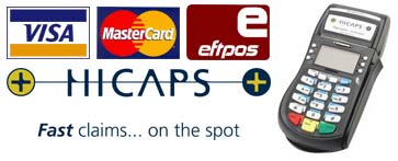 HICAPS and EFTPOS accepted